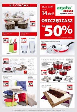 Gazetka promocyjna Agata , ważna od 17.11.2014 do 30.11.2014.