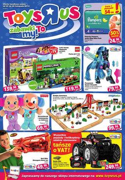 """Gazetka promocyjna Toys""""R""""Us, ważna od 20.11.2014 do 26.11.2014."""