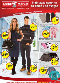Gazetka promocyjna Textil Market, ważna od 27.11.2014 do 09.12.2014.