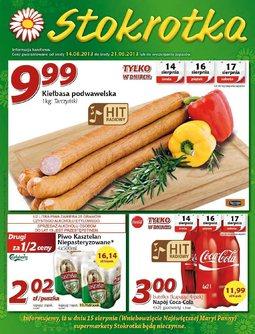 Gazetka promocyjna Stokrotka, ważna od 14.08.2013 do 21.08.2013.