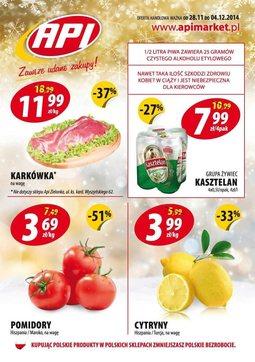 Gazetka promocyjna Api Market, ważna od 28.11.2014 do 04.12.2014.