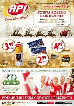 Gazetka promocyjna Api Market, ważna od 28.11.2014 do 15.01.2015.