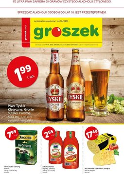 Gazetka promocyjna Groszek , ważna od 14.08.2013 do 27.08.2013.