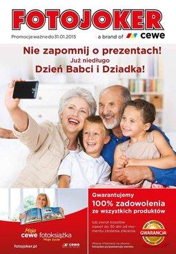 Gazetka promocyjna Fotojoker, ważna od 05.01.2015 do 31.01.2015.
