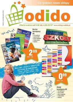 Gazetka promocyjna ODIDO, ważna od 09.08.2013 do 04.09.2013.