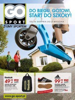 Gazetka promocyjna Go Sport, ważna od 16.08.2013 do 09.09.2013.