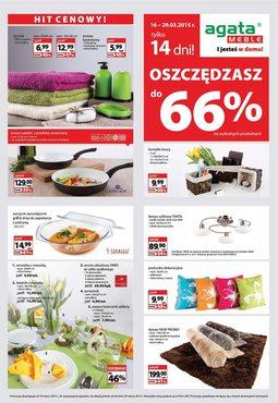 Gazetka promocyjna Agata , ważna od 16.03.2015 do 29.03.2015.