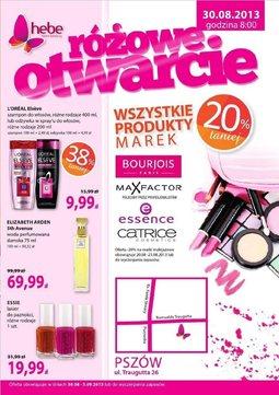 Gazetka promocyjna Hebe, ważna od 30.08.2013 do 05.09.2013.