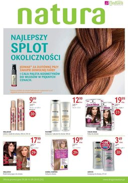 Gazetka promocyjna Drogerie Natura, ważna od 29.08.2013 do 11.09.2013.