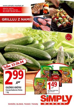 Gazetka promocyjna Simply Market, ważna od 23.04.2015 do 29.04.2015.
