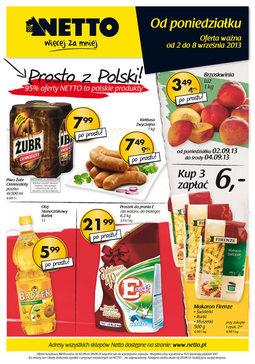 Gazetka promocyjna Netto, ważna od 02.09.2013 do 08.09.2013.