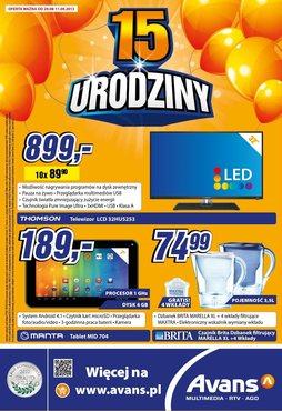 Gazetka promocyjna Avans, ważna od 29.08.2013 do 11.09.2013.