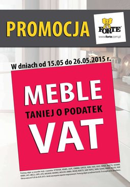 Gazetka promocyjna Forte, ważna od 15.05.2015 do 26.05.2015.