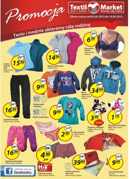 Gazetka promocyjna Textil Market, ważna od 05.09.2013 do 10.09.2013.