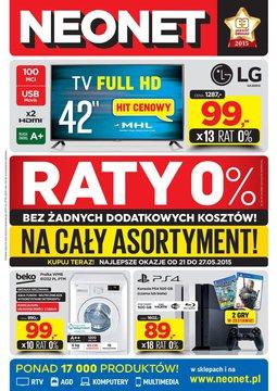 Gazetka promocyjna Neonet, ważna od 21.05.2015 do 27.05.2015.