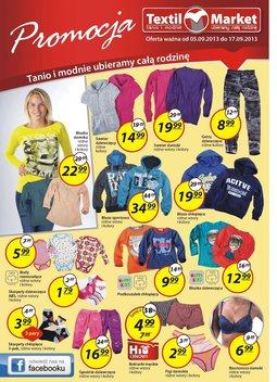 Gazetka promocyjna Textil Market, ważna od 05.09.2013 do 17.09.2013.