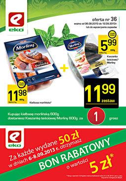 Gazetka promocyjna EKO, ważna od 06.09.2013 do 12.09.2013.
