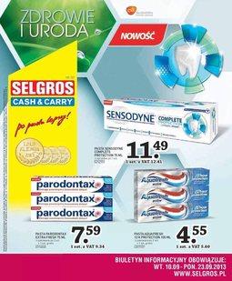 Gazetka promocyjna Selgros Cash&Carry, ważna od 10.09.2013 do 23.09.2013.