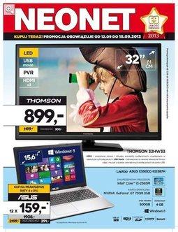 Gazetka promocyjna Neonet, ważna od 12.09.2013 do 18.09.2013.