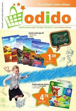 Gazetka promocyjna ODIDO, ważna od 07.08.2015 do 03.09.2015.