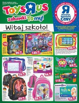 """Gazetka promocyjna Toys""""R""""Us, ważna od 20.08.2015 do 30.08.2015."""