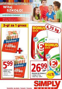 Gazetka promocyjna Simply Market, ważna od 27.08.2015 do 02.09.2015.