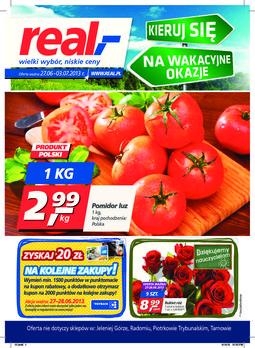 Gazetka promocyjna Real, ważna od 27.06.2013 do 03.07.2013.