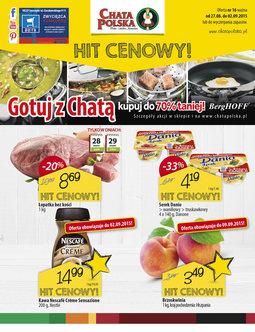 Gazetka promocyjna Chata Polska, ważna od 27.08.2015 do 02.09.2015.