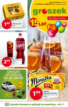 Gazetka promocyjna Groszek , ważna od 27.08.2015 do 08.09.2015.