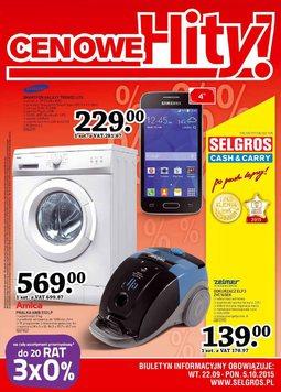 Gazetka promocyjna Selgros Cash&Carry, ważna od 22.09.2015 do 05.10.2015.