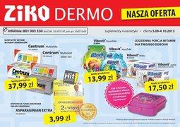 Gazetka promocyjna Ziko Dermo , ważna od 05.09.2013 do 04.10.2013.