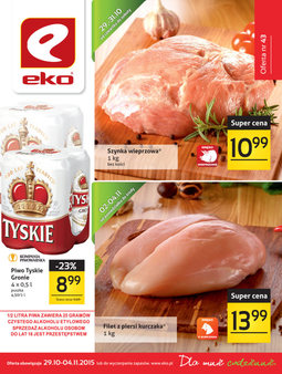 Gazetka promocyjna EKO, ważna od 29.10.2015 do 04.11.2015.
