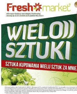Gazetka promocyjna Freshmarket, ważna od 25.09.2013 do 08.10.2013.