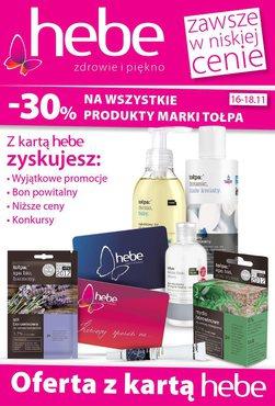Gazetka promocyjna Hebe, ważna od 16.11.2015 do 18.11.2015.