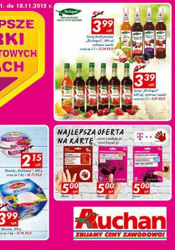 Gazetka promocyjna Auchan, ważna od 12.11.2015 do 18.11.2015.