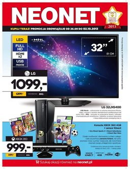 Gazetka promocyjna Neonet, ważna od 26.09.2013 do 02.10.2013.