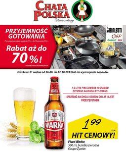 Gazetka promocyjna Chata Polska, ważna od 26.09.2013 do 02.10.2013.