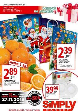 Gazetka promocyjna Simply Market, ważna od 19.11.2015 do 25.11.2015.