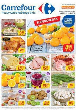 Gazetka promocyjna Carrefour, ważna od 25.11.2015 do 01.12.2015.