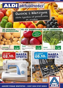 Gazetka promocyjna Aldi, ważna od 02.10.2013 do 08.10.2013.