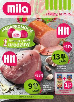 Gazetka promocyjna MILA, ważna od 27.01.2016 do 02.02.2016.