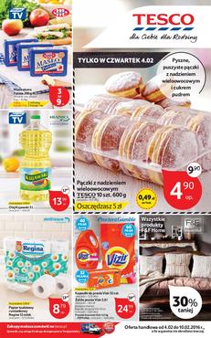 Gazetka promocyjna Tesco Hipermarket, ważna od 04.02.2016 do 10.02.2016.