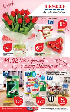 Gazetka promocyjna Tesco Hipermarket, ważna od 11.02.2016 do 17.02.2016.