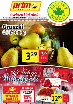 Gazetka promocyjna Prim Market, ważna od 11.02.2016 do 17.02.2016.