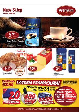 Gazetka promocyjna Nasz Sklep, ważna od 25.02.2016 do 06.03.2016.