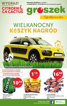 Gazetka promocyjna Groszek, ważna od 03.03.2016 do 15.03.2016.