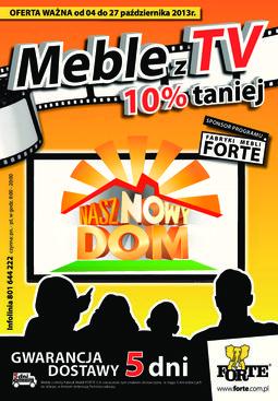 Gazetka promocyjna Forte, ważna od 04.10.2013 do 27.10.2013.