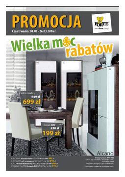 Gazetka promocyjna Forte, ważna od 04.03.2016 do 26.03.2016.