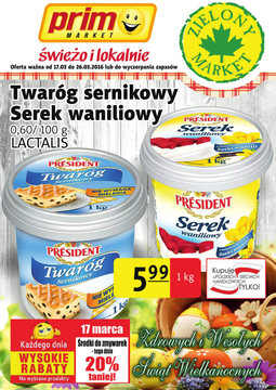 Gazetka promocyjna Prim Market, ważna od 17.03.2016 do 26.03.2016.