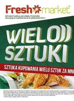 Gazetka promocyjna Freshmarket, ważna od 09.10.2013 do 22.10.2013.